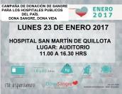 Hospital San Martín realizará Colecta de Sangre entre sus usuarios y funcionarios
